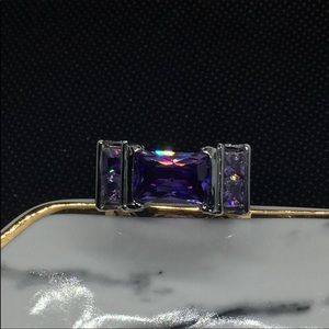 Amethyst and topaz ring